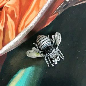 925 🐝vintage sterling bee pin brooch